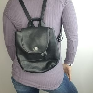Coach Vintage Mini Backpack Black Leather